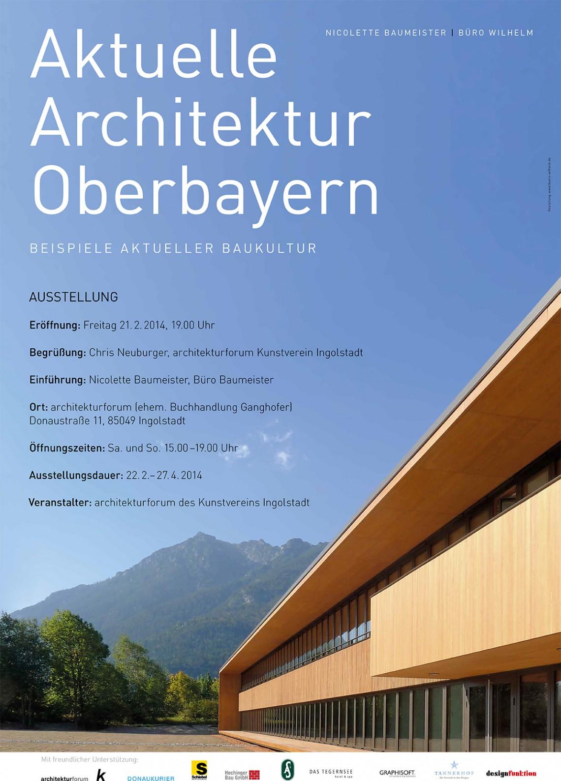 Aktuelle architektur in oberbayern buch und ausstellung for Aktuelle architektur